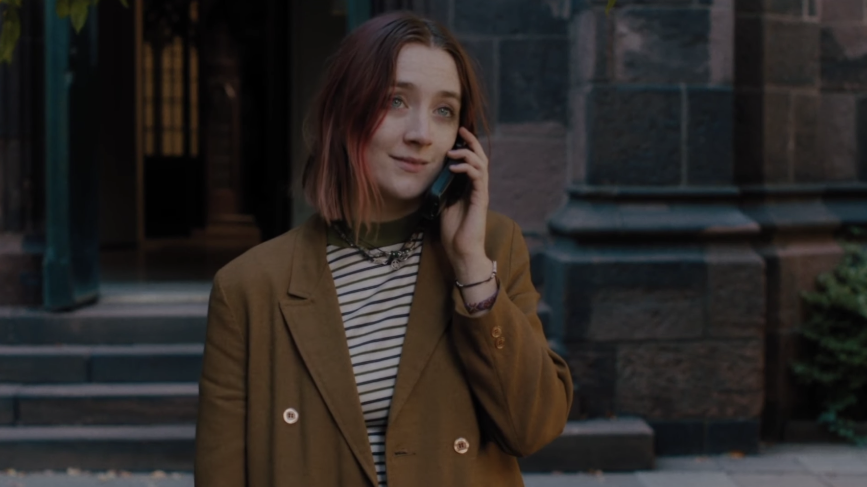 Lady Bird on the phone