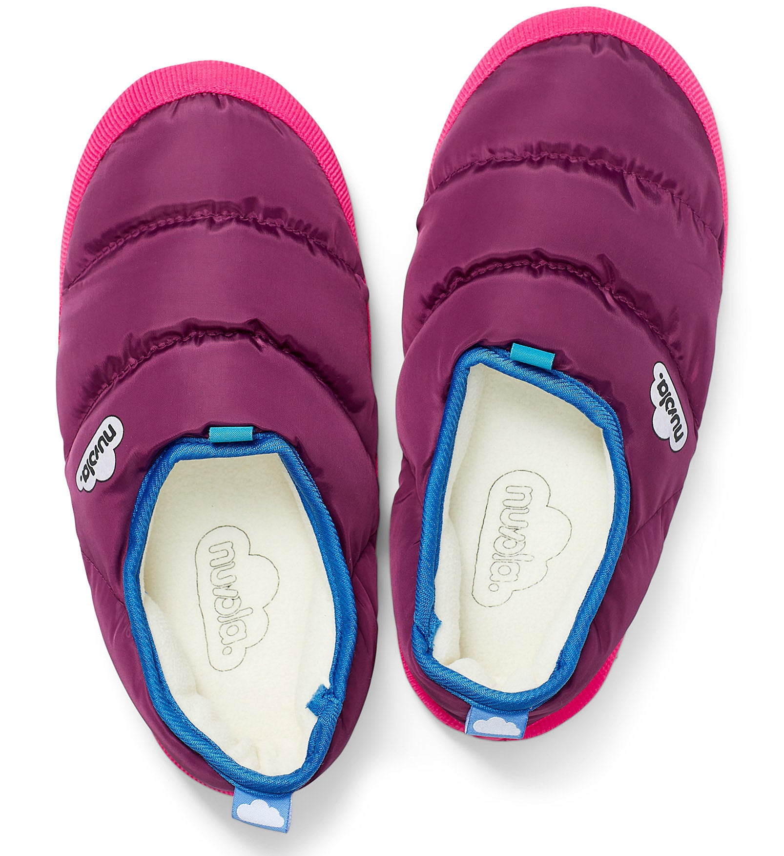 A pair of puffy slippers