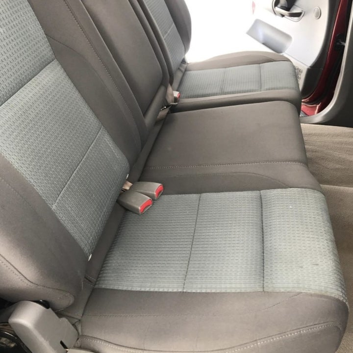 An after photo of a car seat with no stains