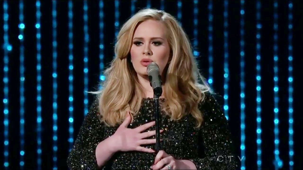 Adele performing at the Oscars