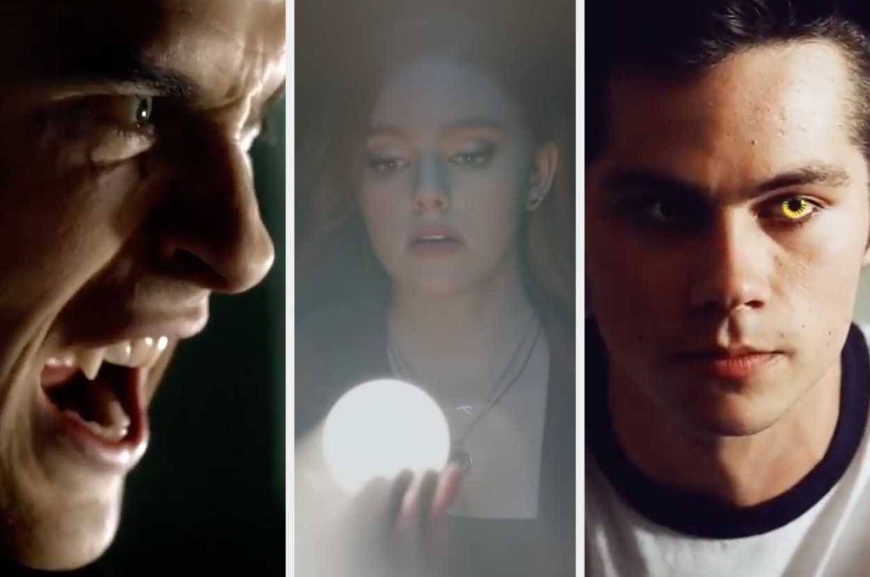 A vampire, a woman performing magic, and a guy becoming a werewolf