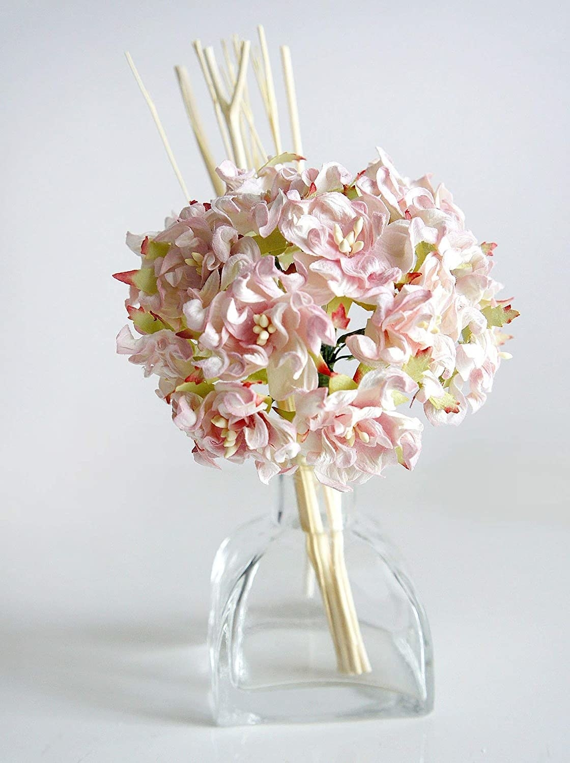 the flower and reed diffuser in vase