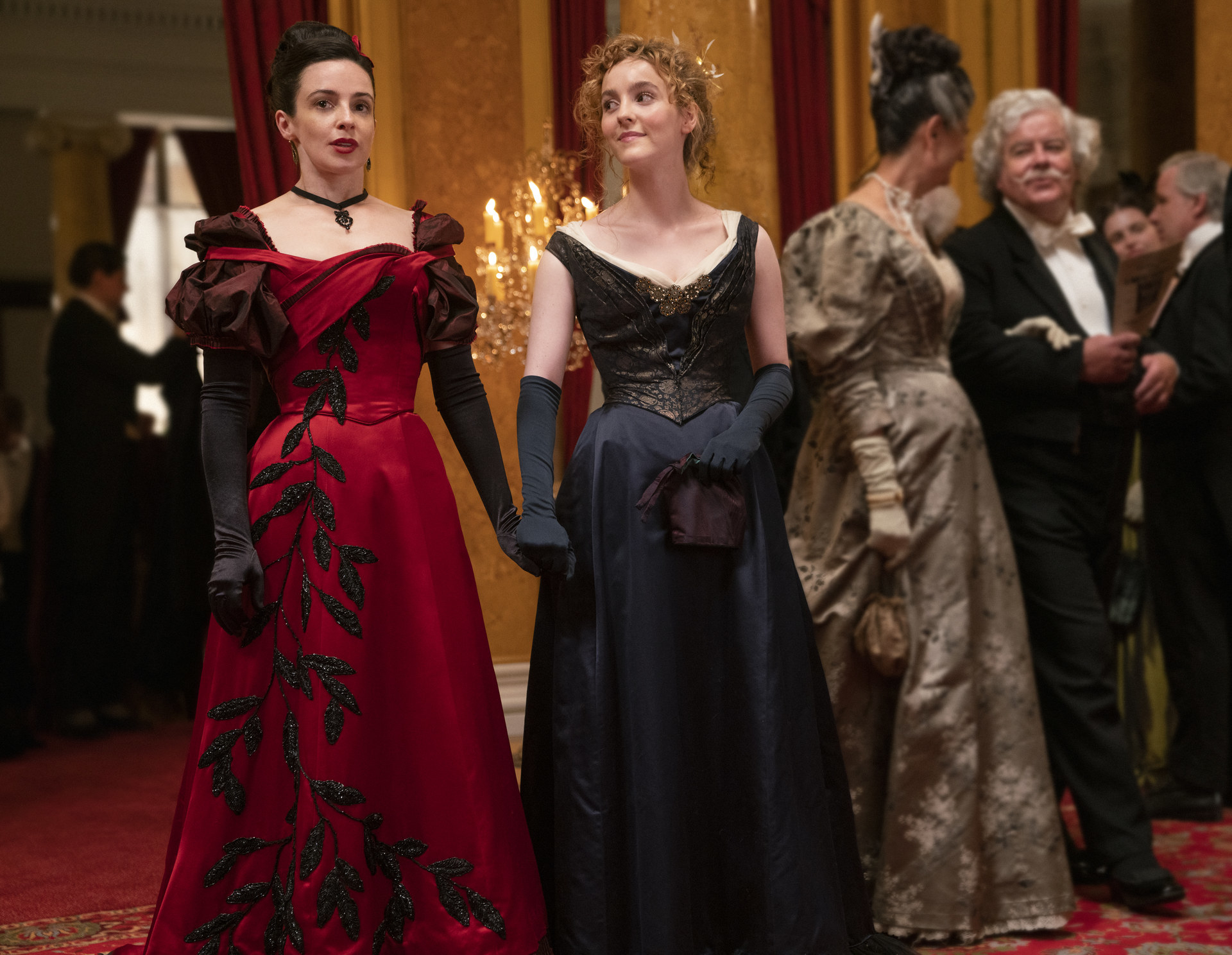 """Ann Skelly and Laura Donnelly in """"The Nevers"""""""