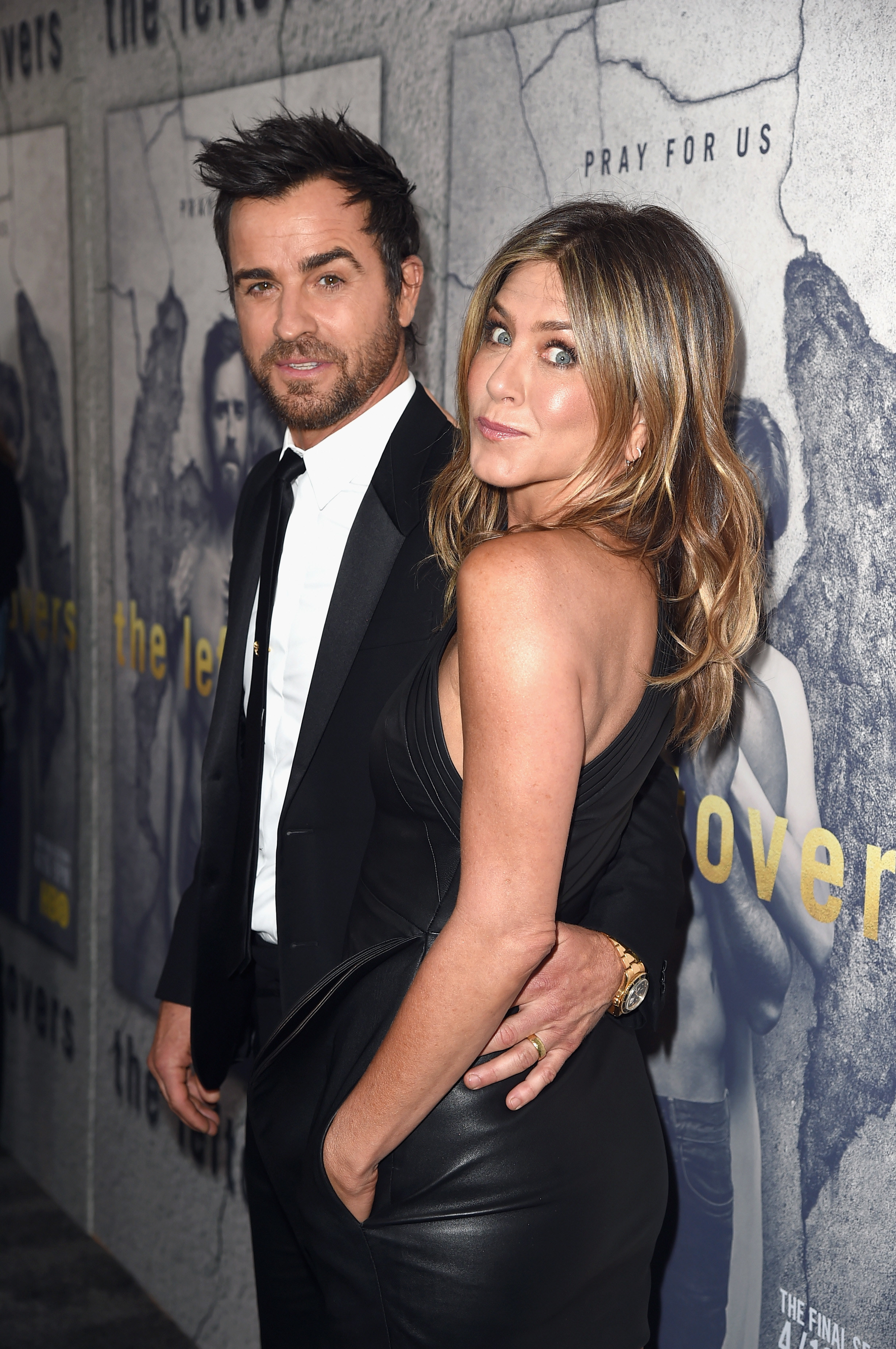 Theroux and Aniston at the premiere of season three of The Leftovers