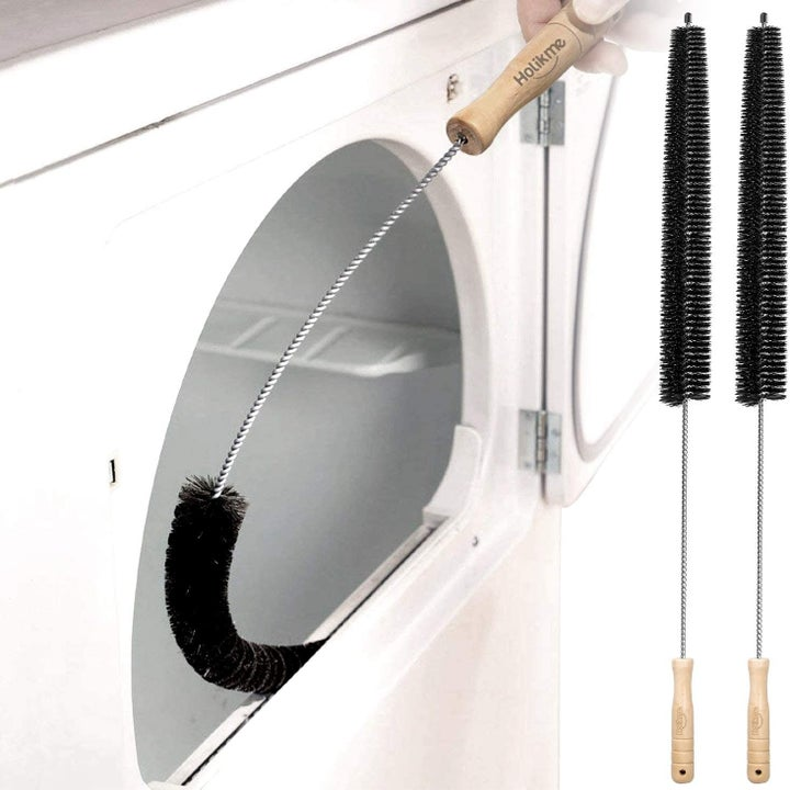 the lint brush bending into a dryer