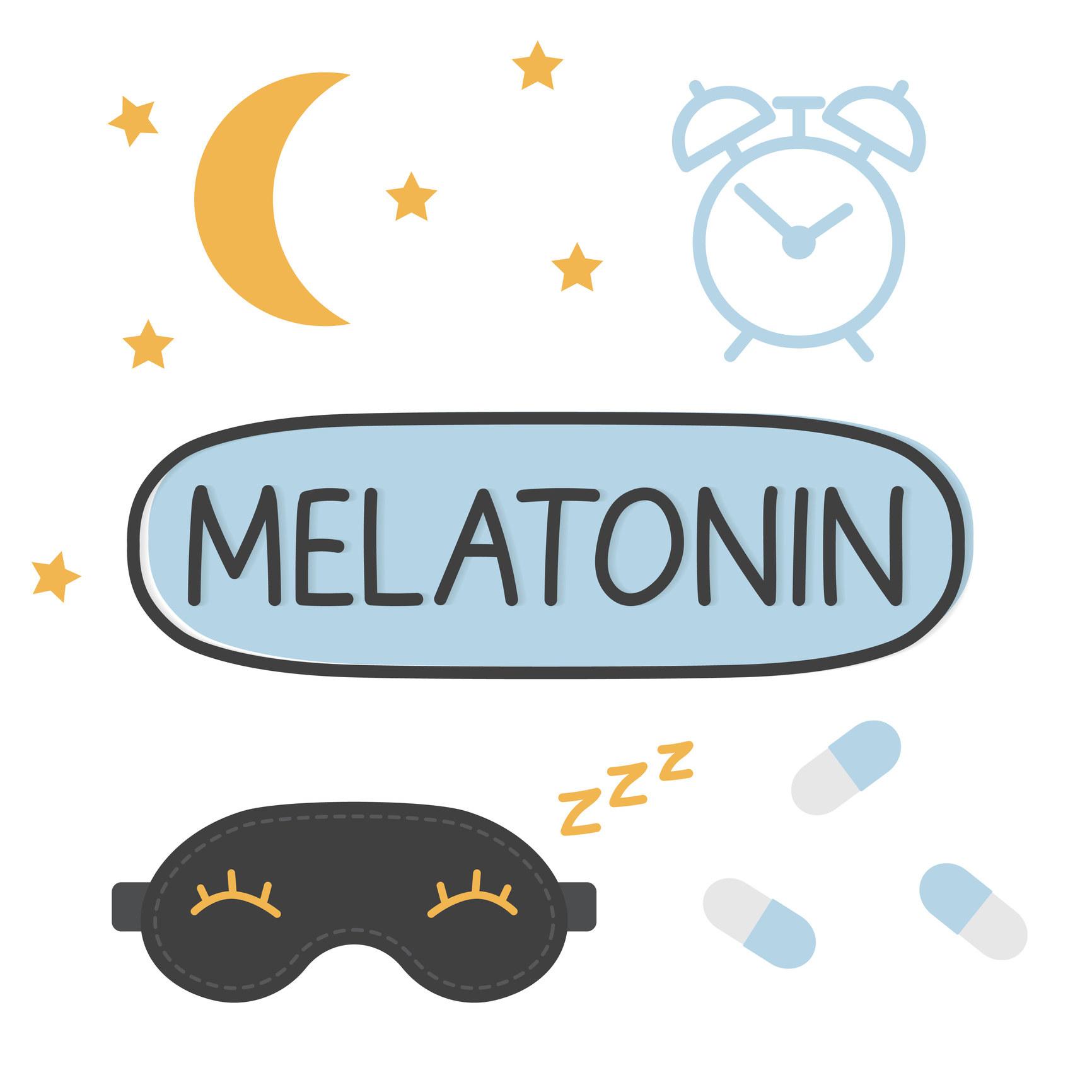 cartoon drawing of melatonin