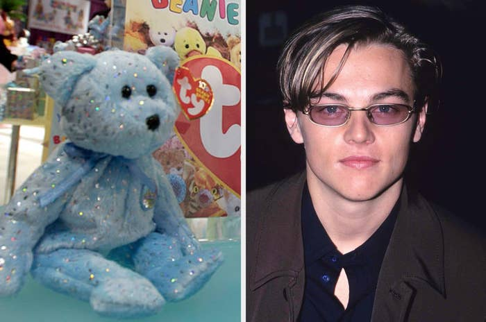 Beanie baby and Leo Dicaprio