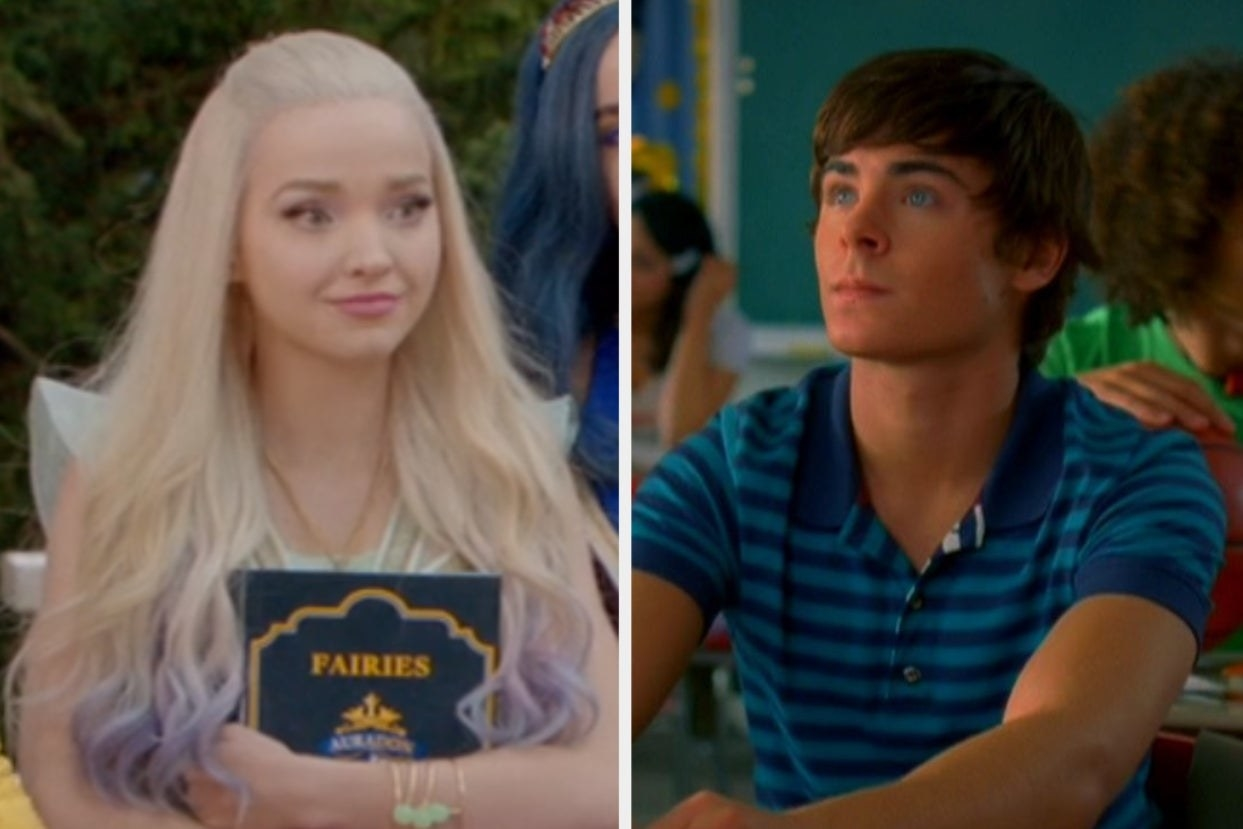"Mal from ""Descendants"" and Troy from ""High School Musical"""
