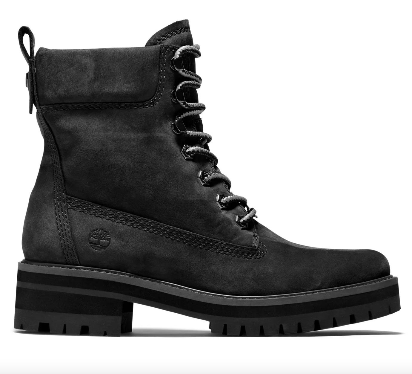 The pair of Timberland boots in black
