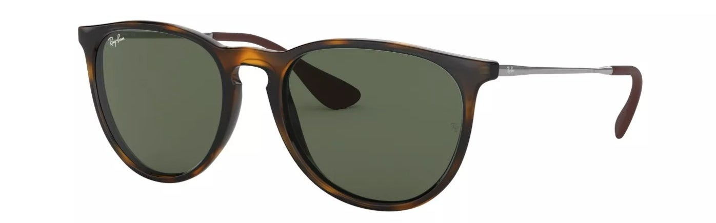 The Ray-Ban Erika unisex sunglasses in tortoise/ green