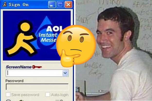 AOL instant messager sing on and Tom from MySpace