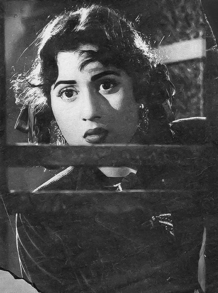 Madhubala in film Gateway of India, 1957