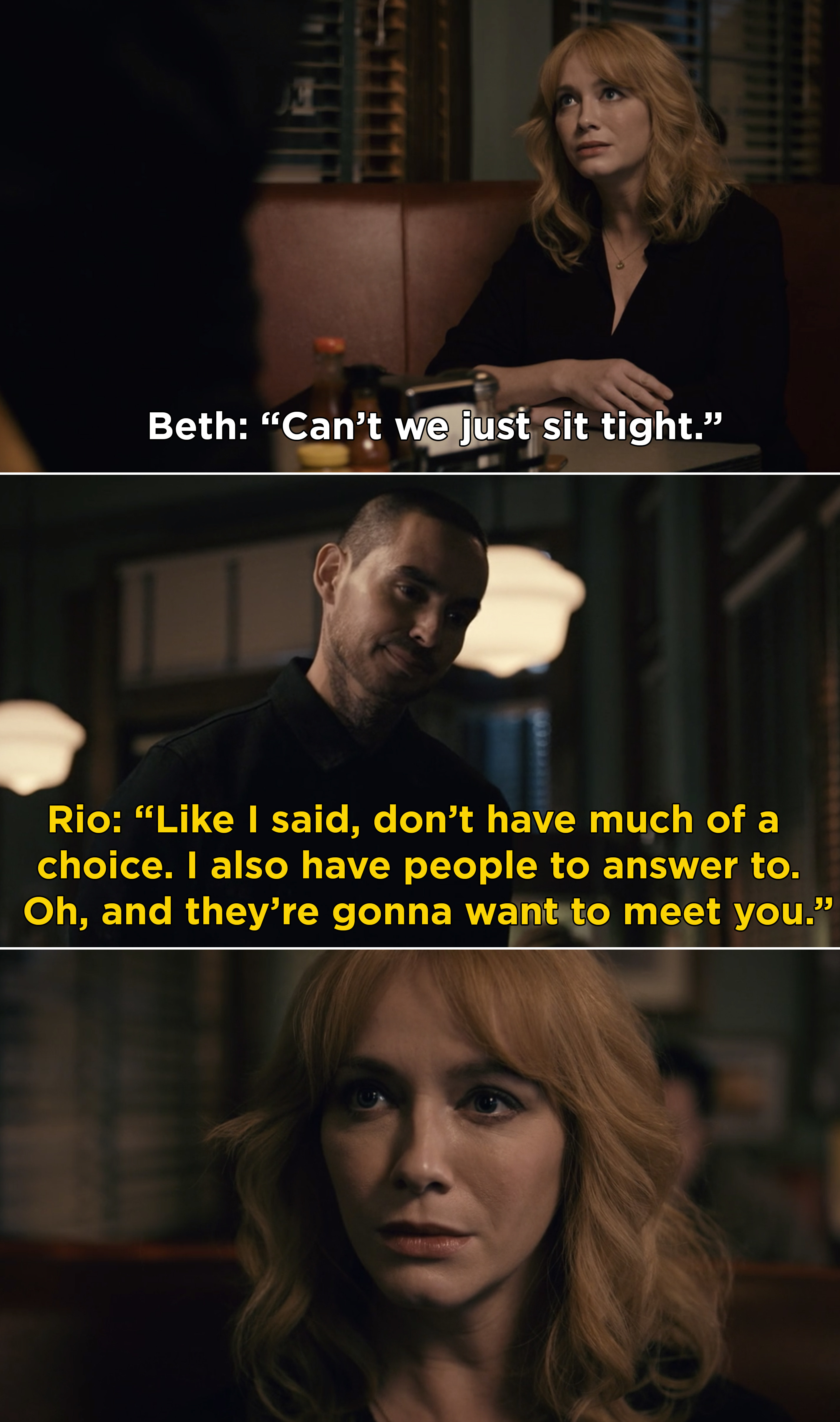 """Rio telling Meth that he has people to answer to and """"they're gonna want to meet you"""""""