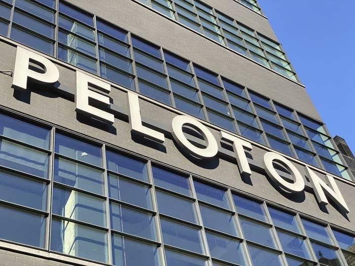 Peloton sign on building