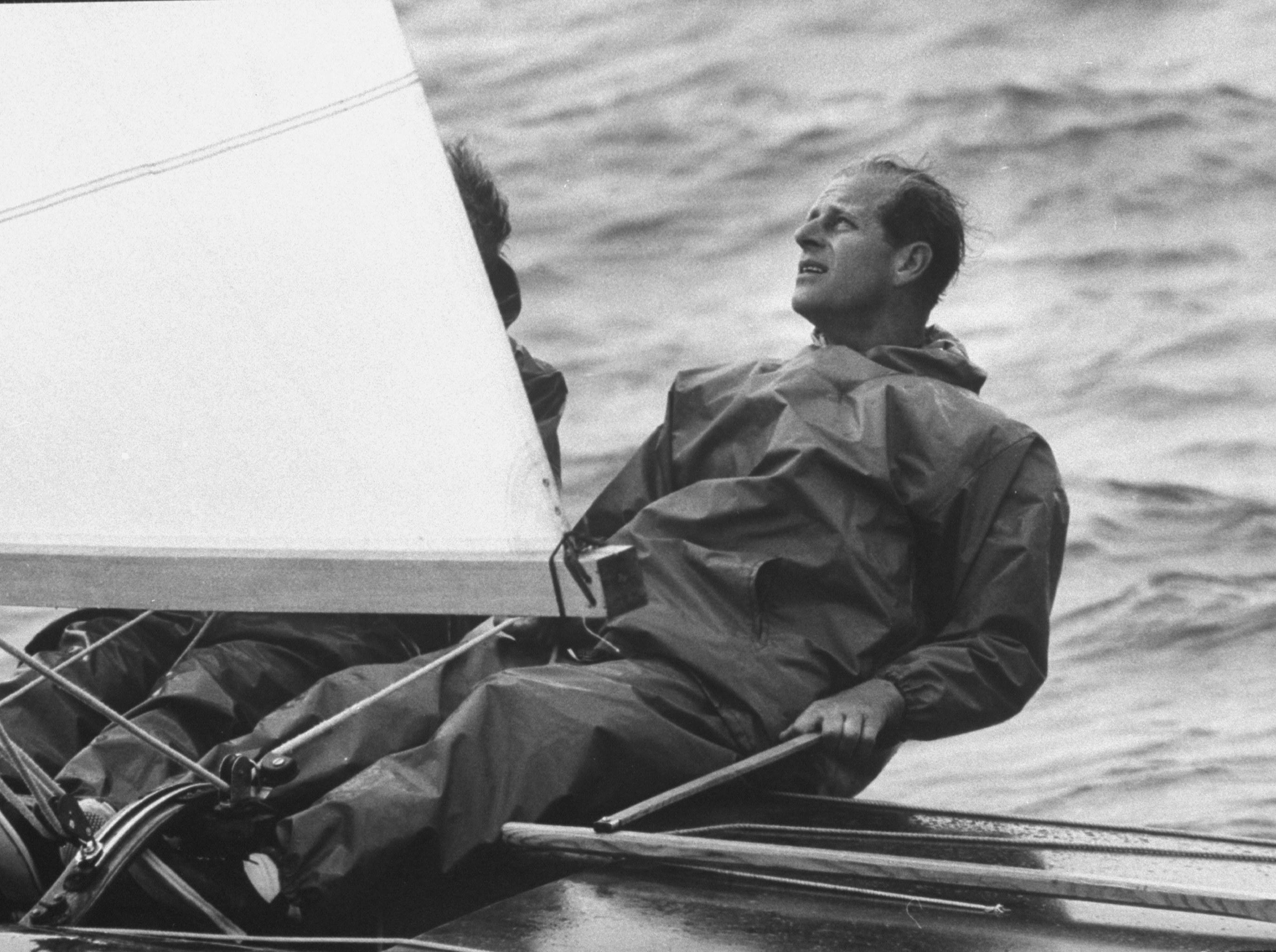 A young Prince Philip at sea