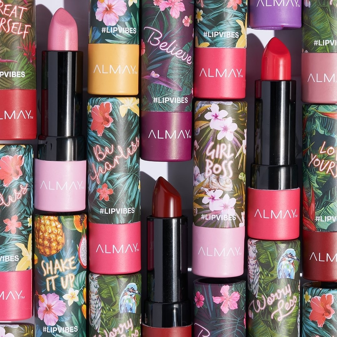 Different tubes of Almay Lip Vibes lipstick
