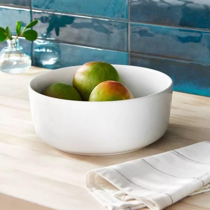 The white bowl
