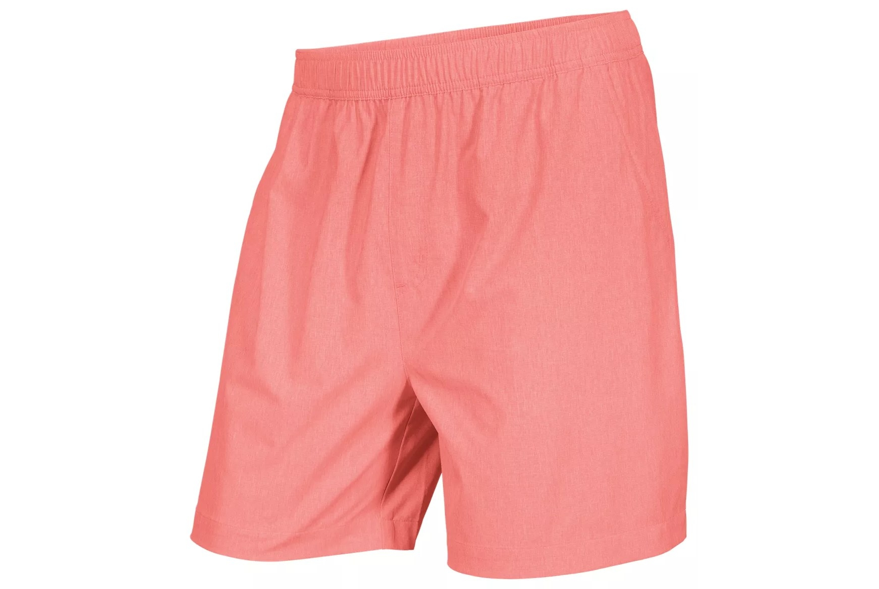 The shorts in spiced coral