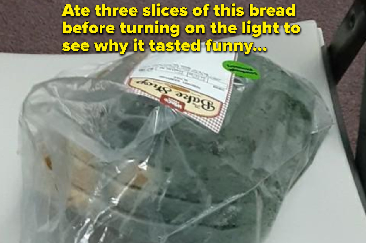 person who ate moldy green bread