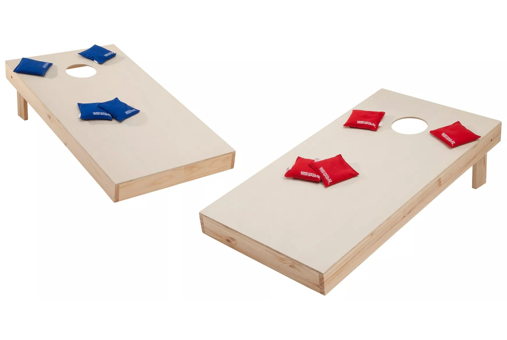 The set with two bases and a eight tossing bags