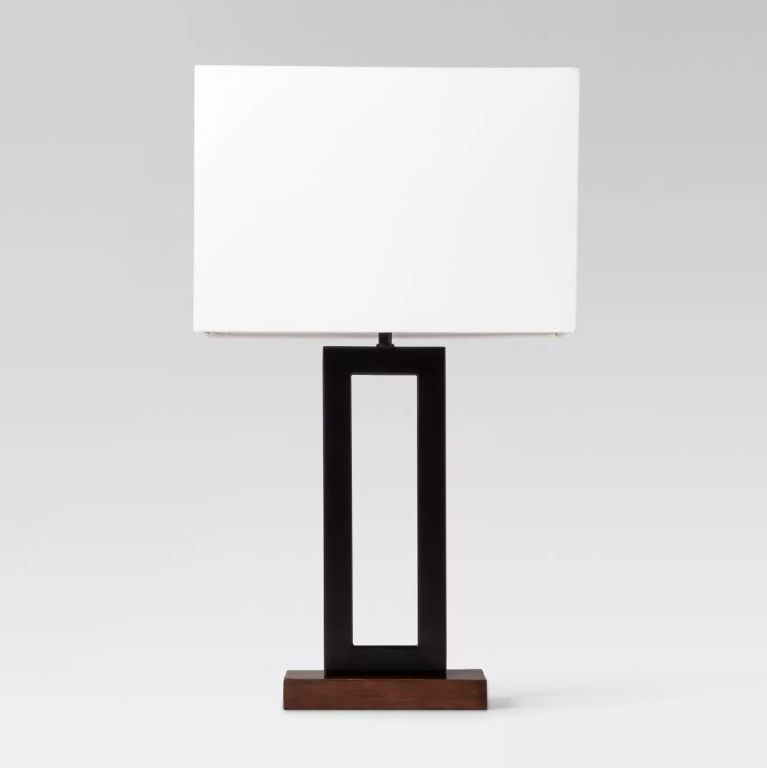 The lamp with a black base