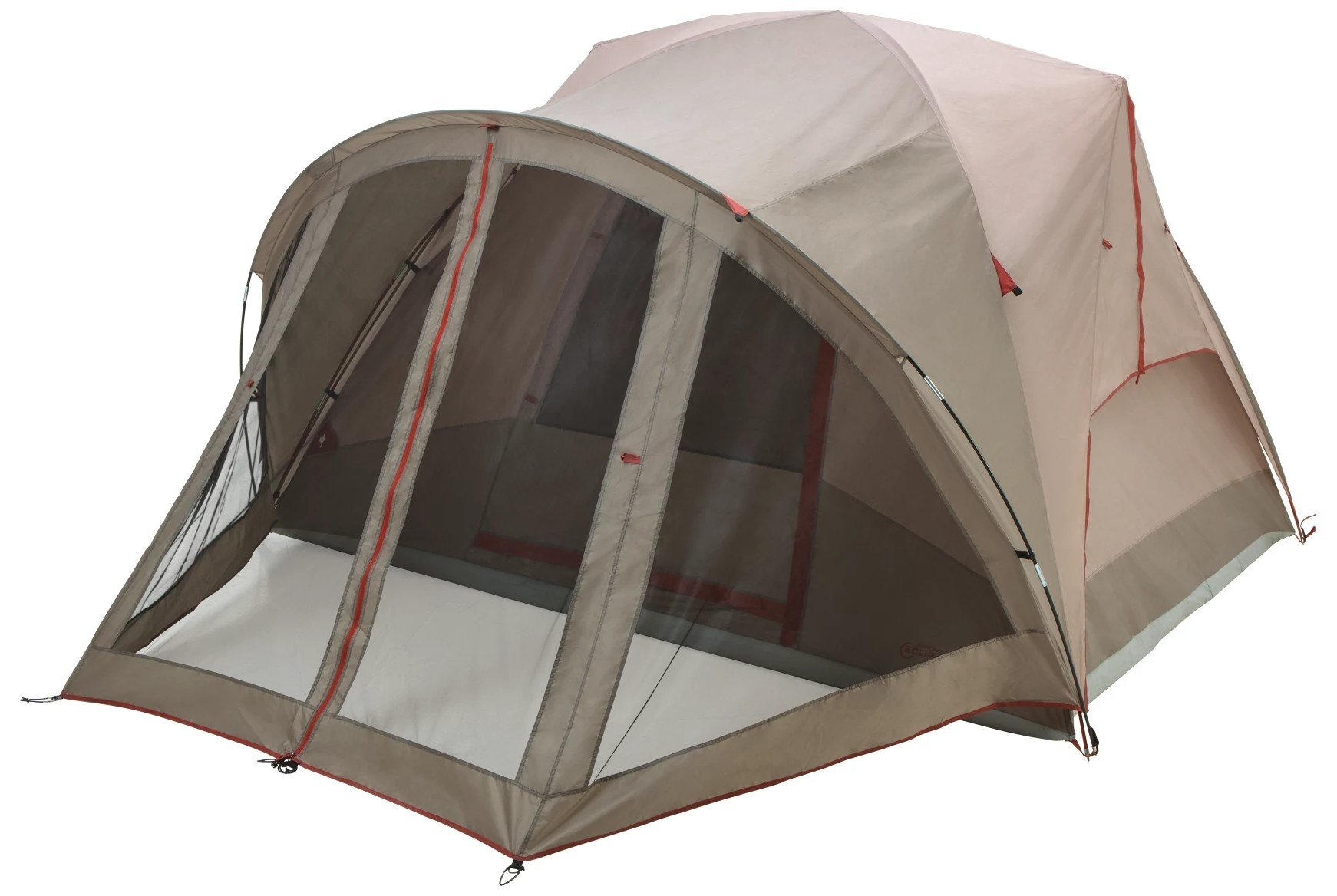 The tent with the screen porch extended