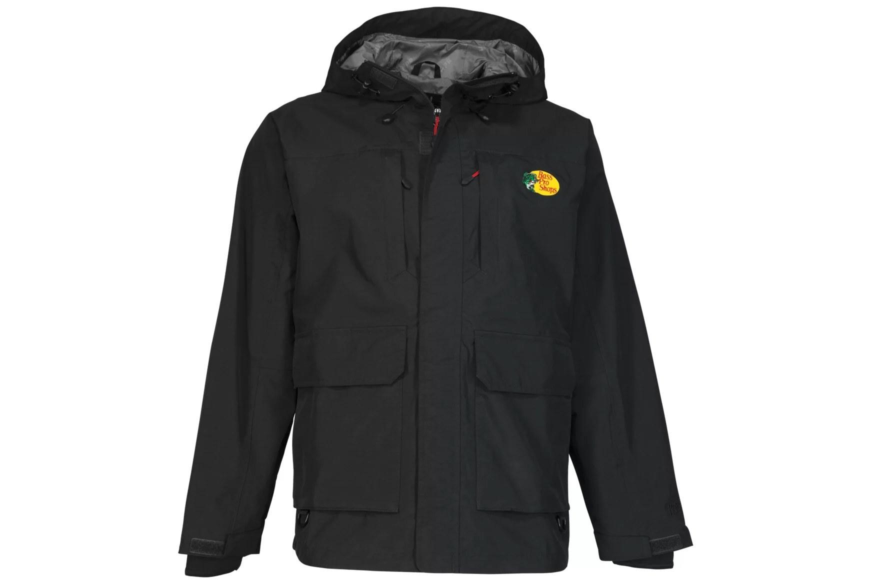 The black rain jacket