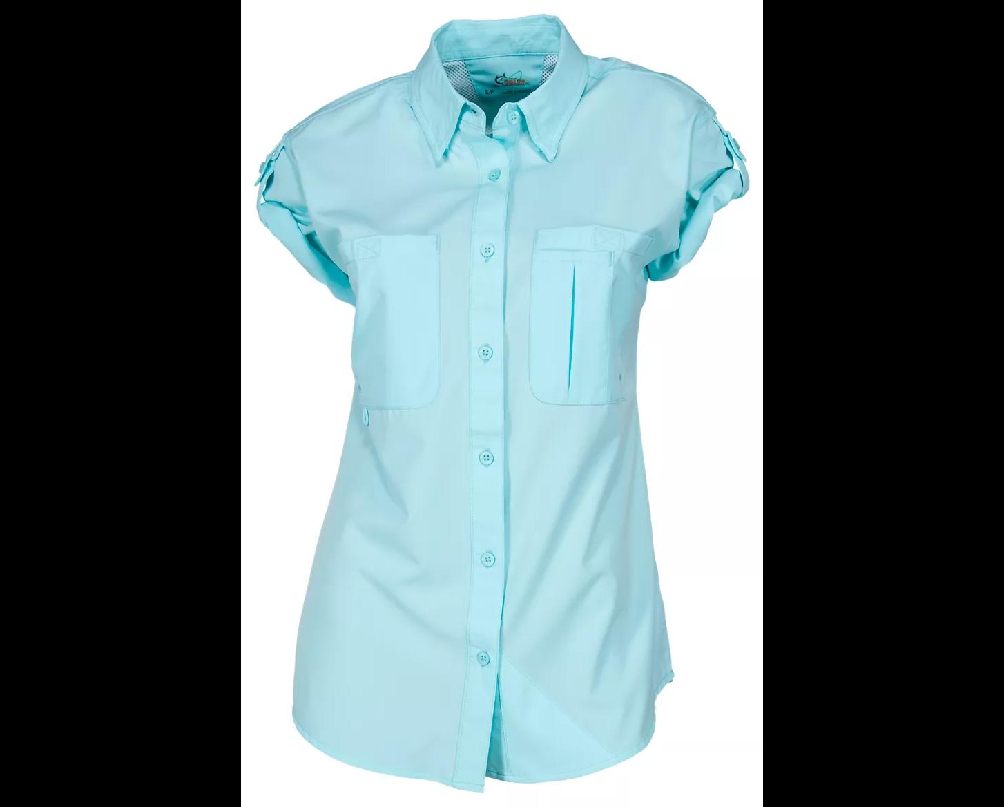 The shirt in aqua splash