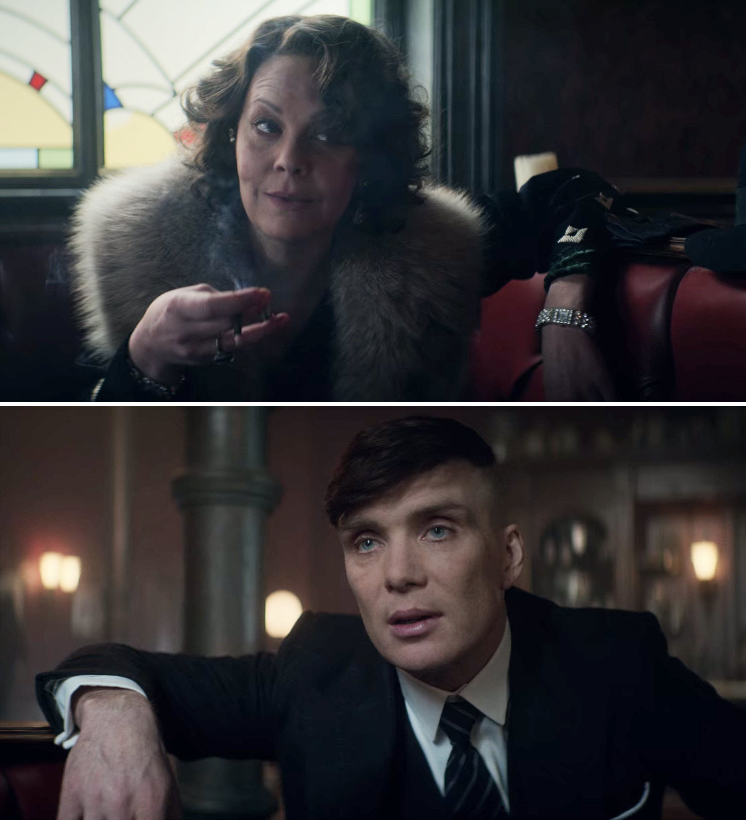 Helen and Cillian in a scene together