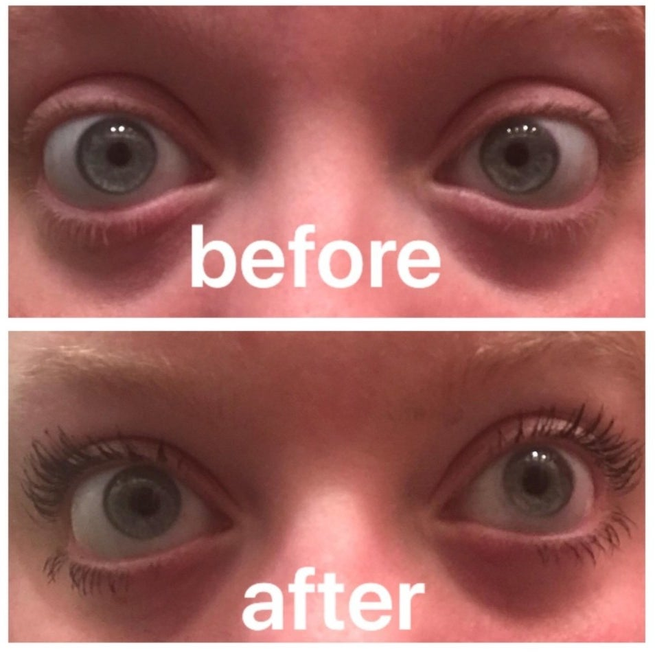Reviewer Photo: Before and After with the Essence Mascara