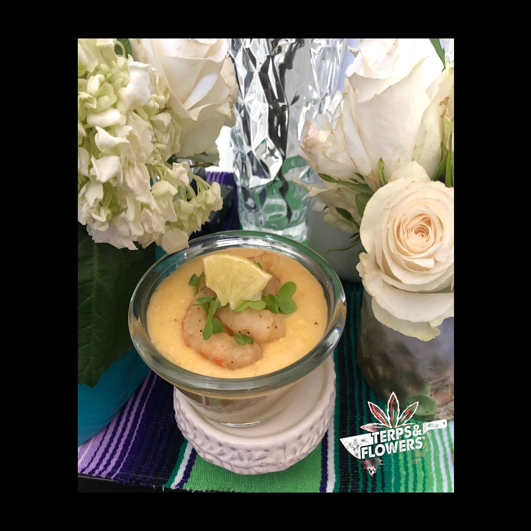 Vegan shrimp and grits from Terps & Flowers Catering