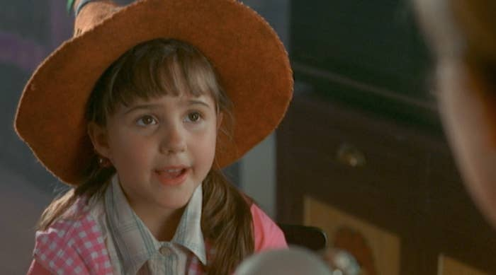 A young Emily as Sophie