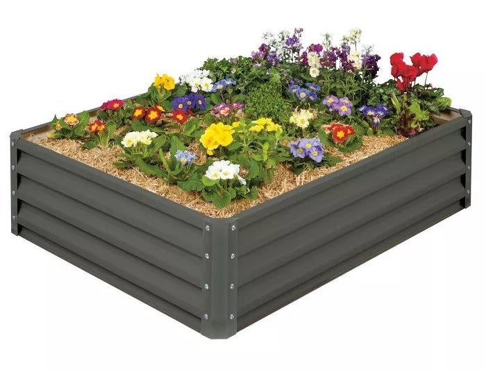 The rectangular-shaped planter