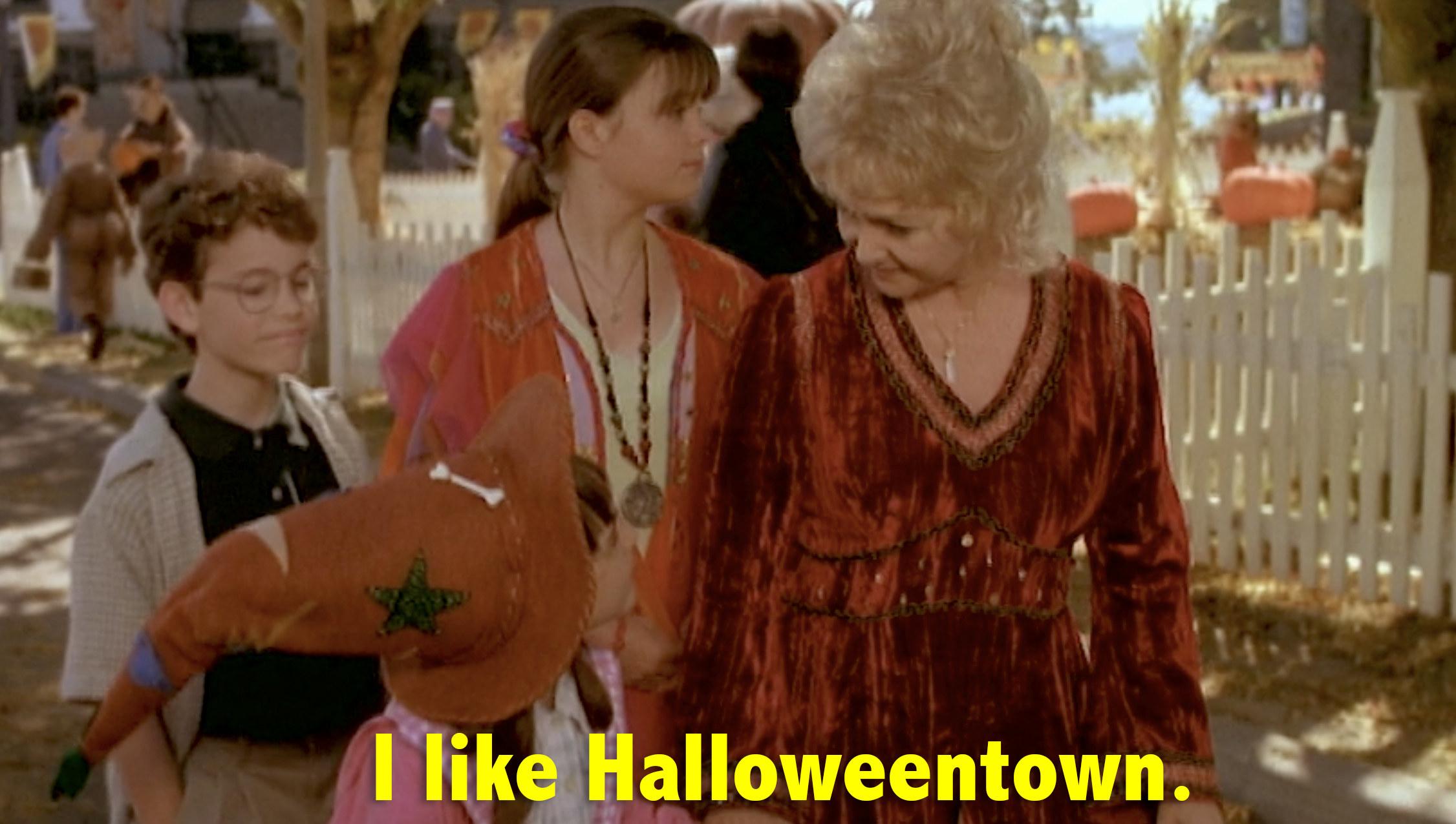 "Sophie saying ""I like Halloweentown"""