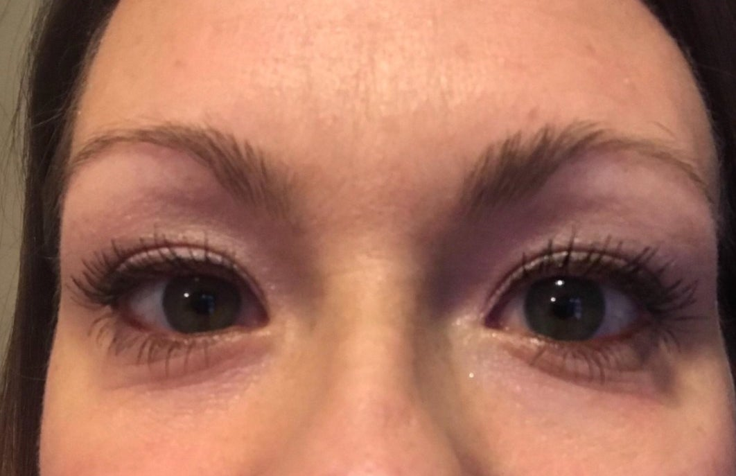 Reviewer Photo: The Neutrogena mascara in on a woman's eyelashes