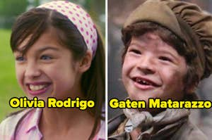 Olivia Rodrigo and Gaten Matarazzo as little kids in their first big Hollywood roles