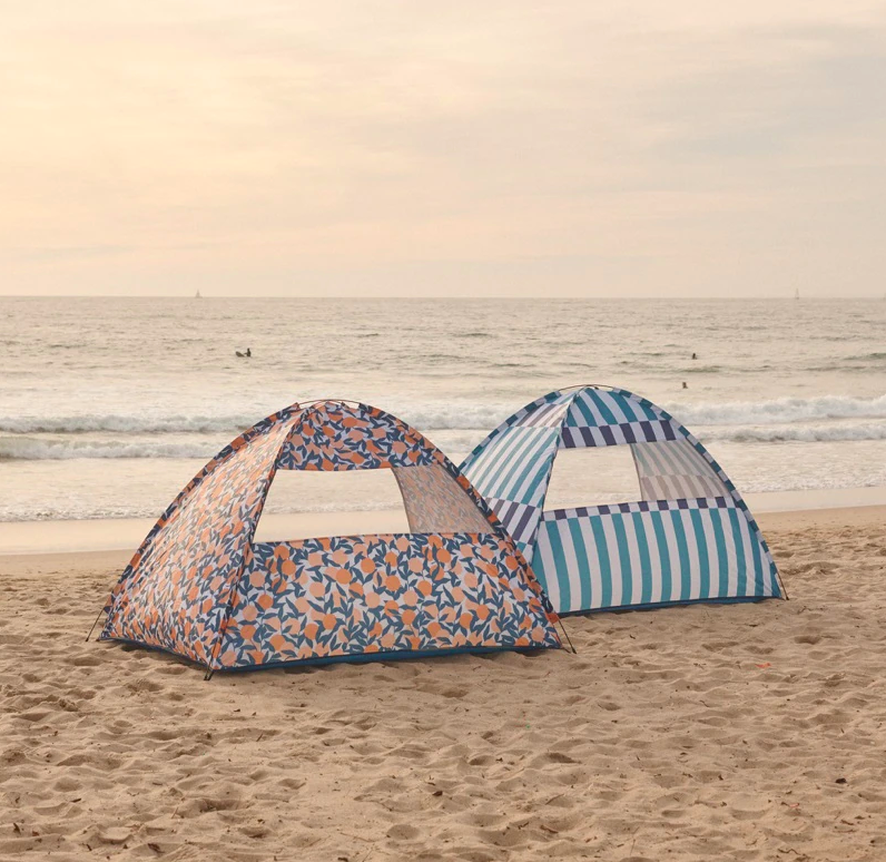 Two tents on a beach