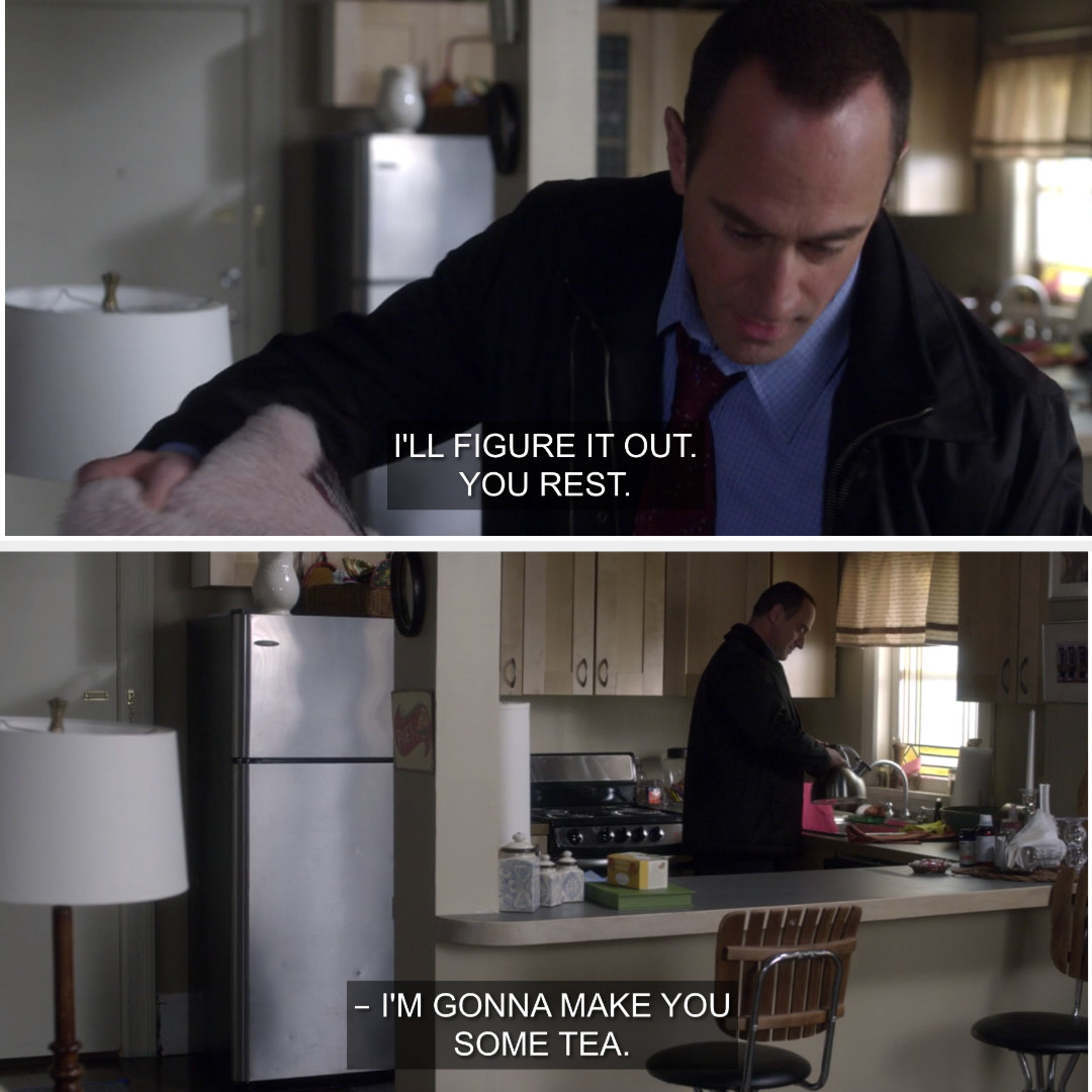 Stabler taking care of a very sick Benson