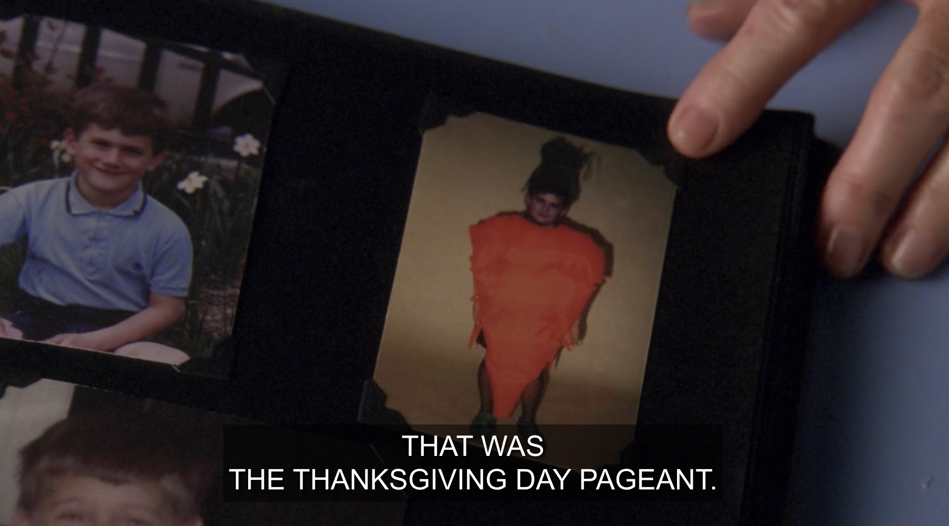 A childhood photo of Stabler dressed as a carrot