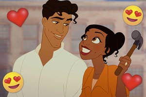 """Anika Noni Rose as Tiana and Bruno Campos as Prince Naveen in the movie """"The Princess and the Frog."""""""