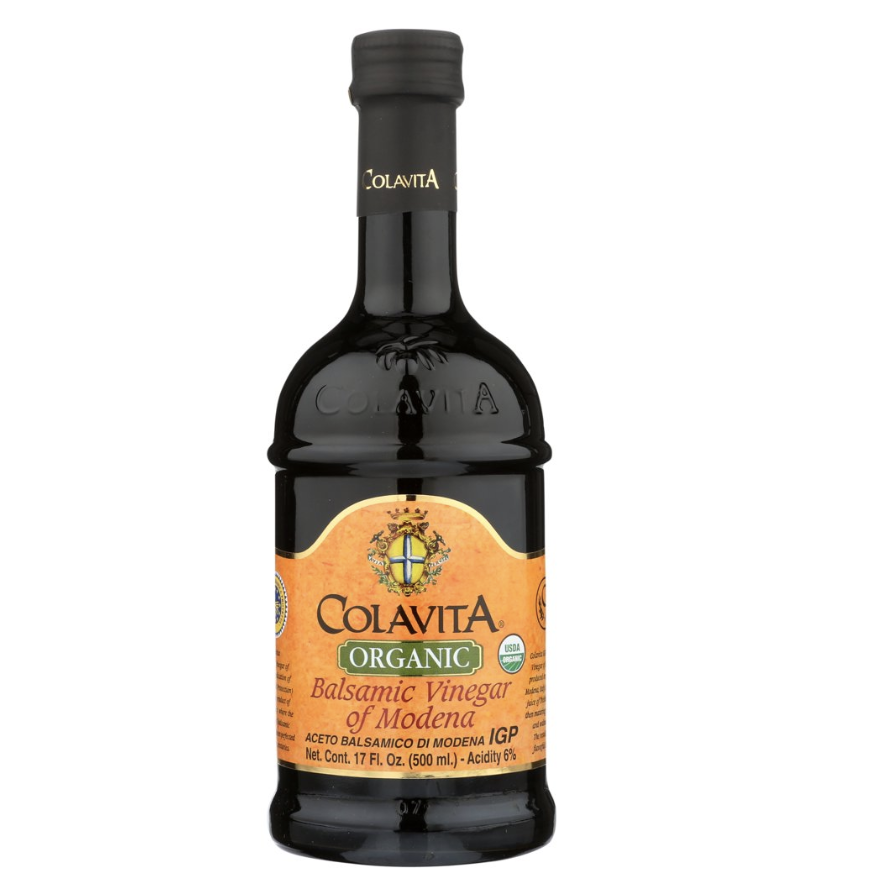 the black bottle with an orange label