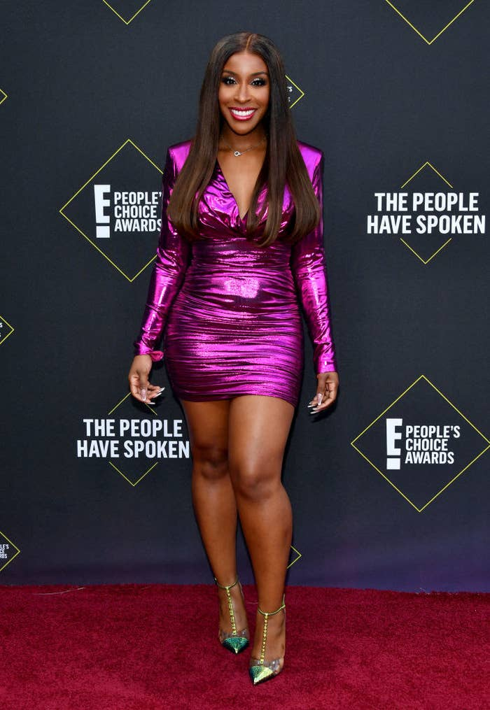 Jackie Aina arrives to the 2019 E! People's Choice Awards held at the Barker Hangar on November 10, 2019