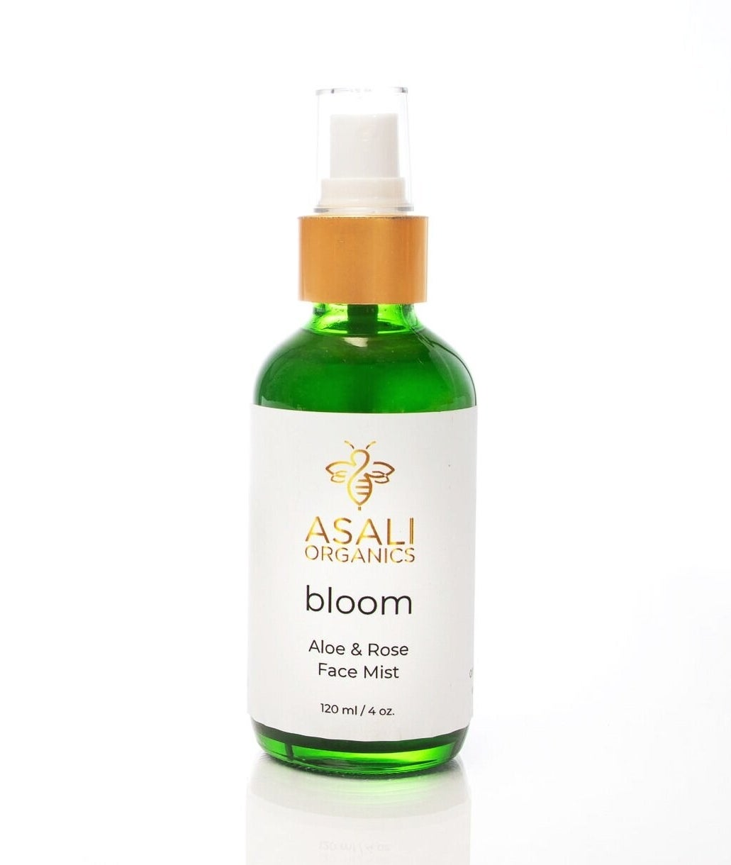 a four ounce bottle of the aloe and rose face mist