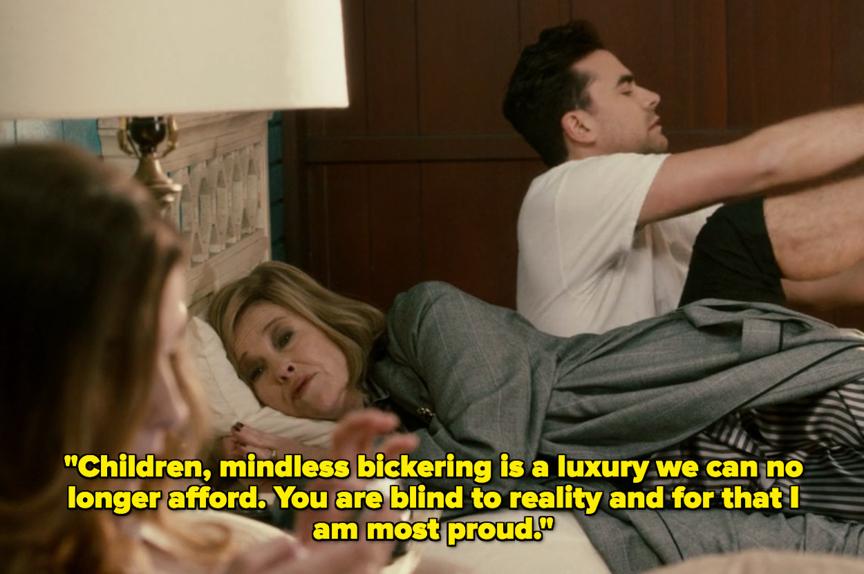 """""""Children, mindless bickering is a luxury we can no longer afford. You are blind to reality and for that I am most proud"""""""