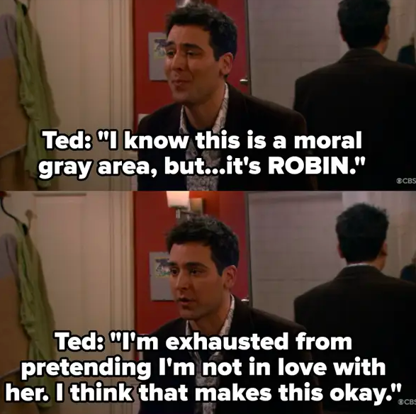 "Ted justifies cheating on Victoria because Robin is ""the one"""