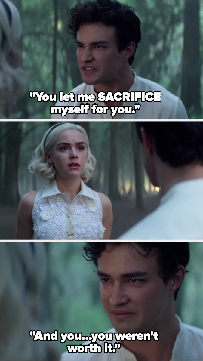 Nick confronts Sabrina about sacrificing himself for her