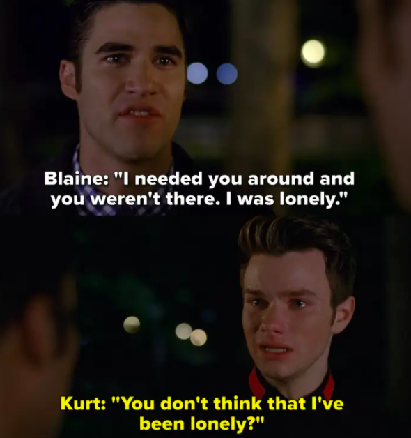 Kurt finds out Blaine cheated on him