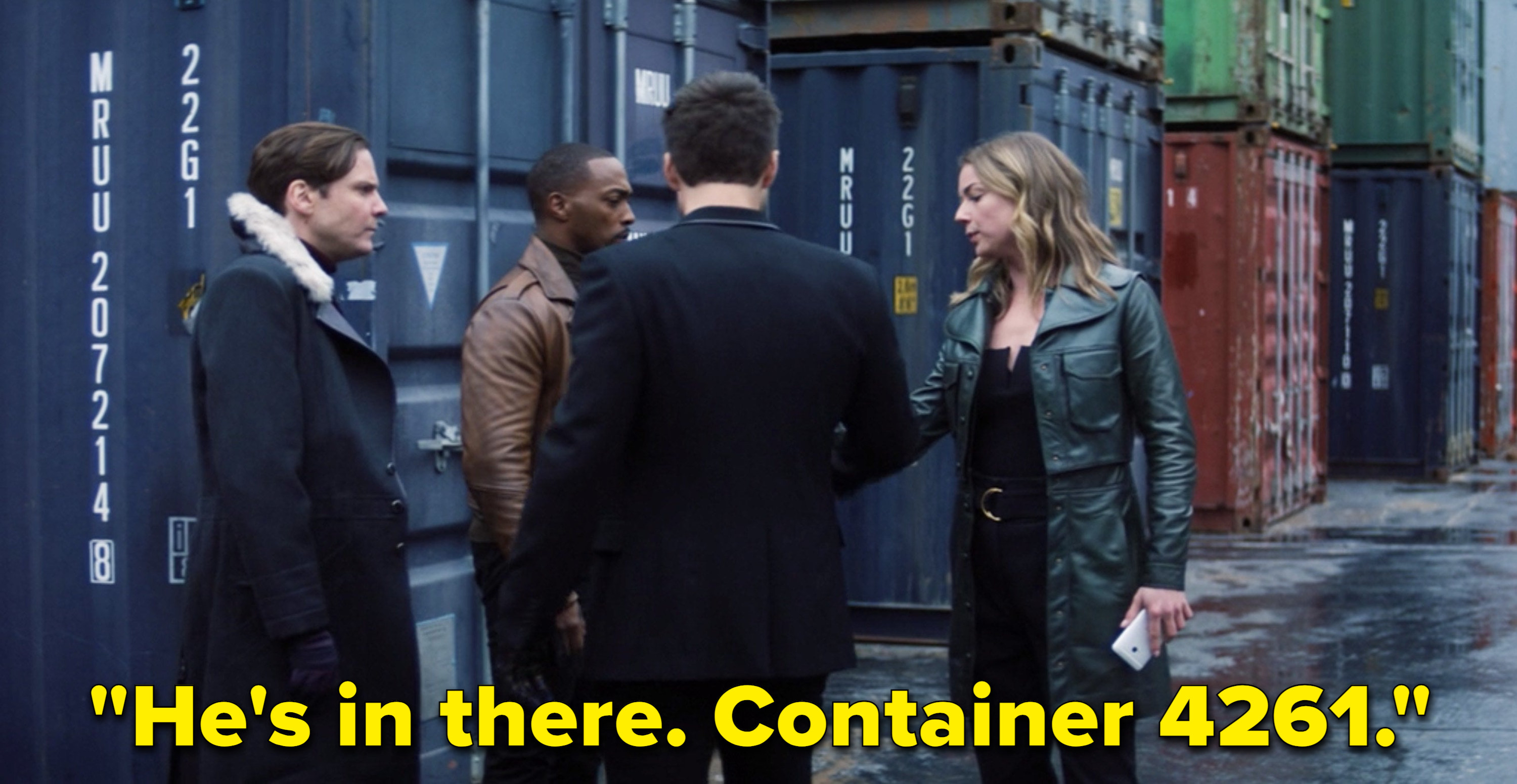 """Sharon saying, """"He's in there. Container 4261"""""""