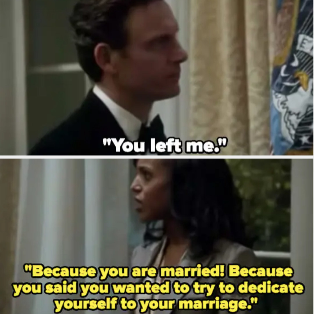 Fitz says Olivia left him, Olivia reminds him he's married
