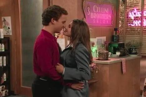 them kissing